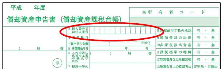 安城市/償却資産申告書の様式にマイナンバー欄が追加されました